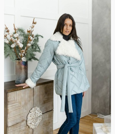 Куртка демисезонная мятная