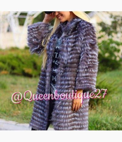 Модное пальтишко из меха чернобурки