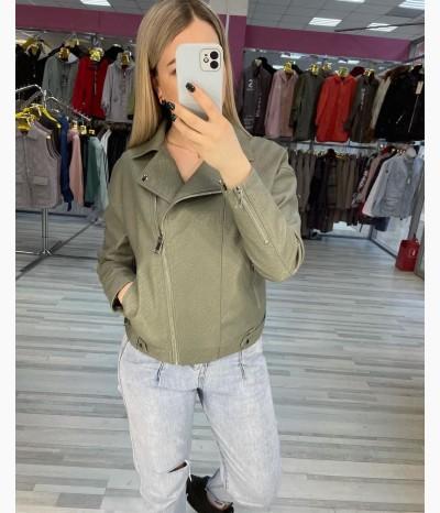 Куртка из эко кожи от МОДНАЯ ЛИНИЯ