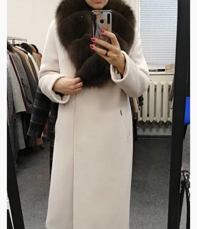 Зимнее пальто. Натуральный мех