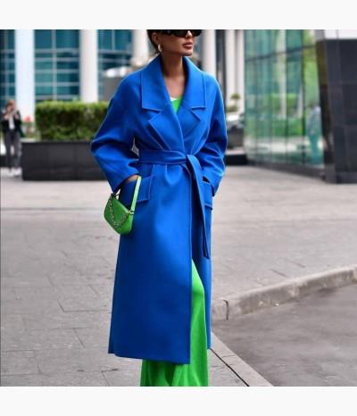 Пальто из шерсти и шелка