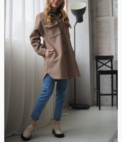 Пальто-рубашка от SHUM